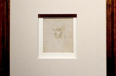 レオナルド・ダ・ヴィンチ 《少女の頭部/〈岩窟の聖母〉の天使のための習作》 1483〜1485年頃 トリノ王立図書館