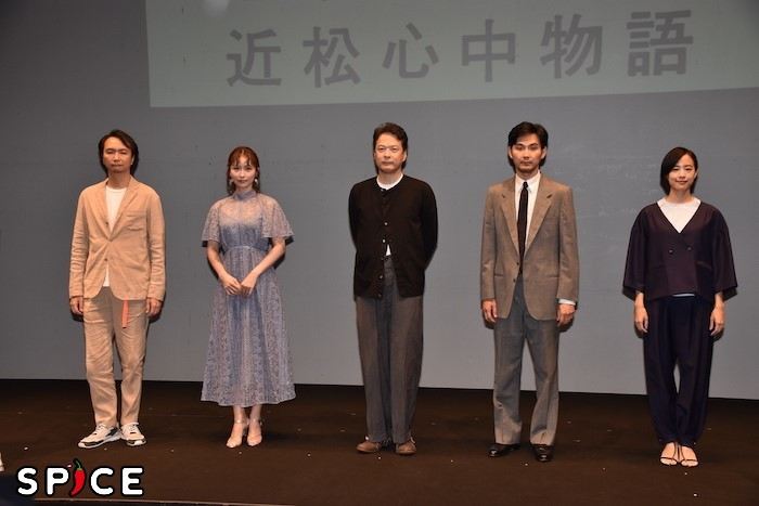 長塚圭史、笹本玲奈、田中哲司、松田龍平、石橋静河(左から)