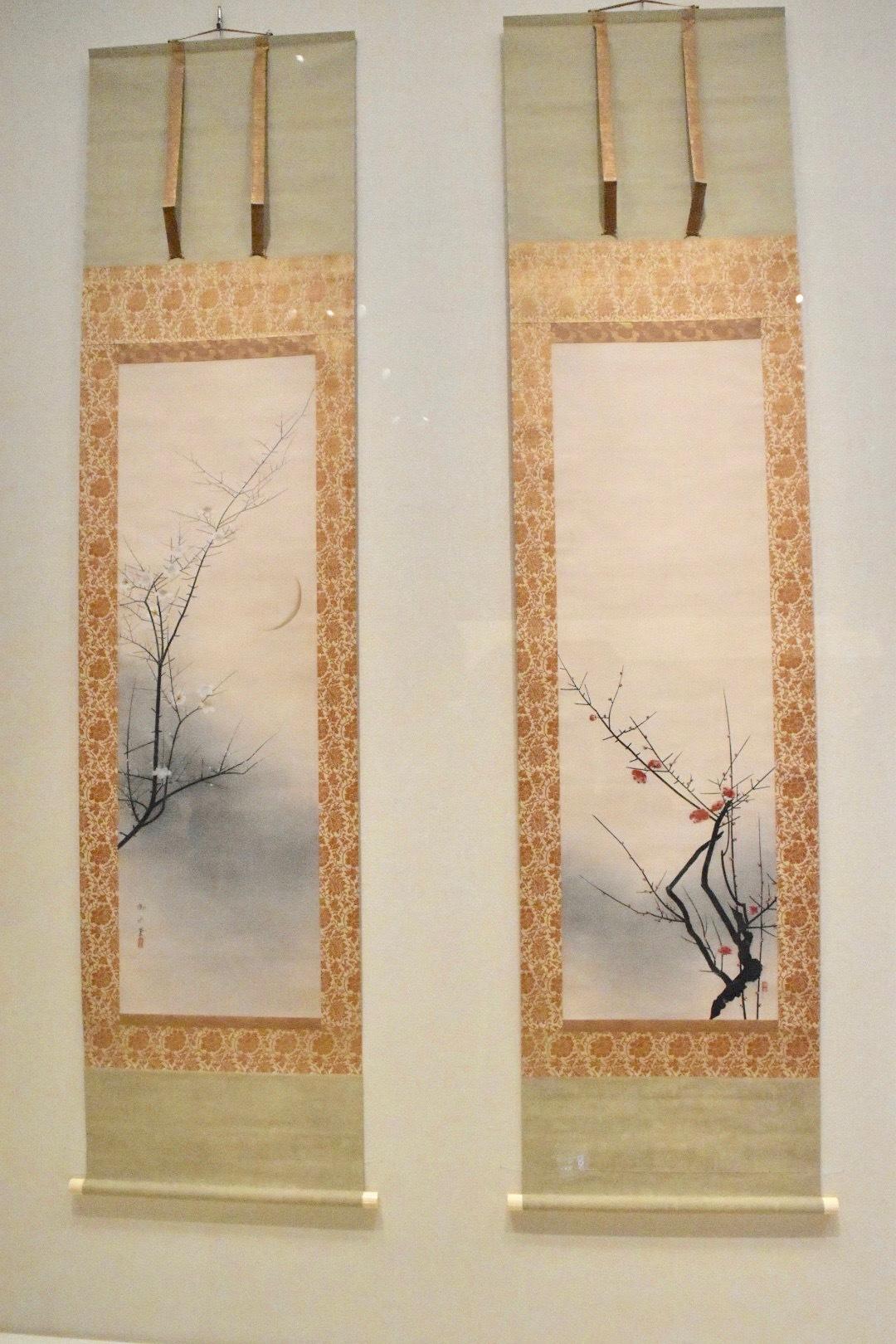 速水御舟 《紅梅・白梅》 昭和4年 山種美術館蔵
