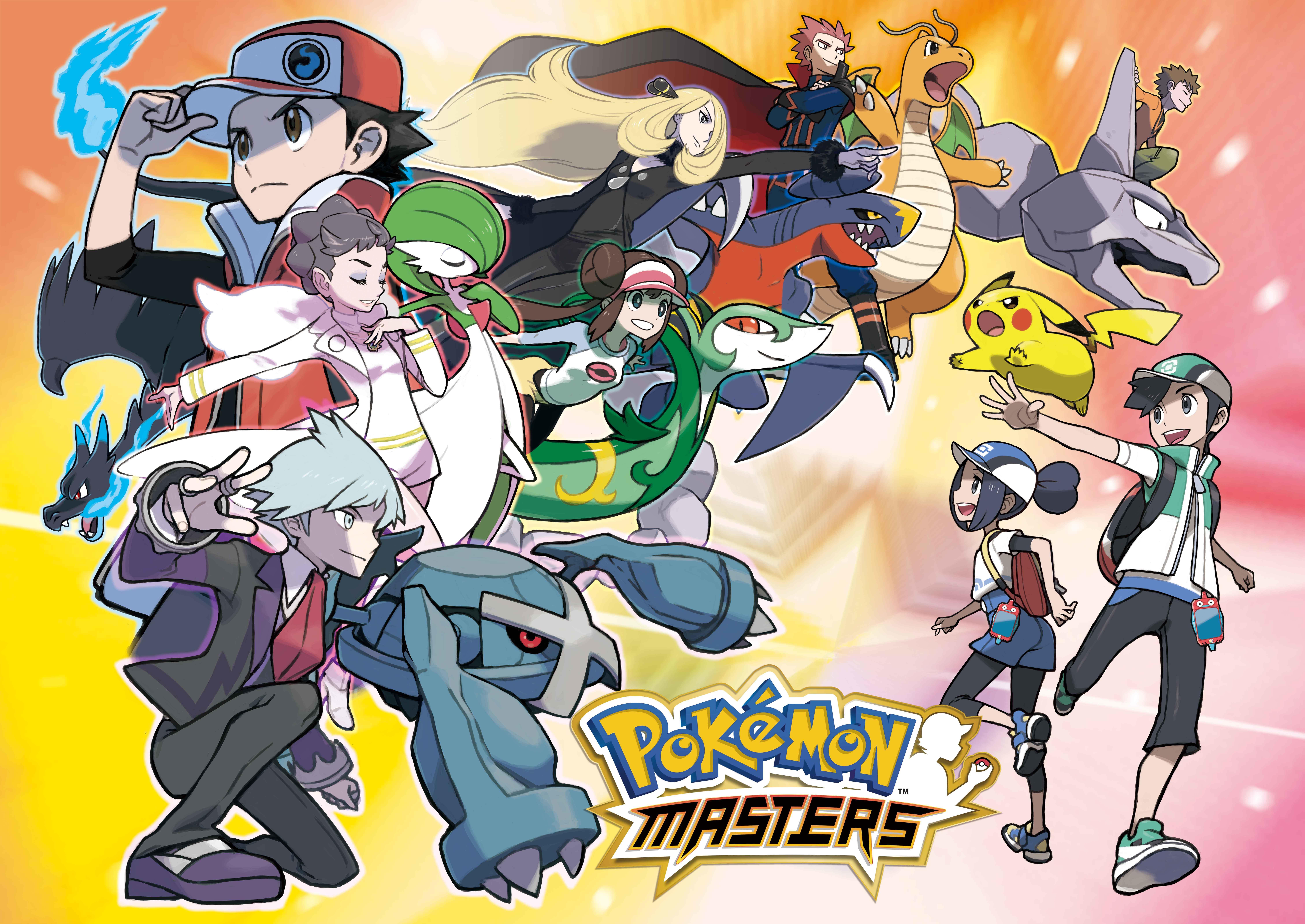 『PokemonMasters』ロゴ (C)2019 DeNA Co., Ltd. (C)2019 Pokemon. (C)1995-2019 Nintendo / Creatures Inc. / GAME FREAK inc.
