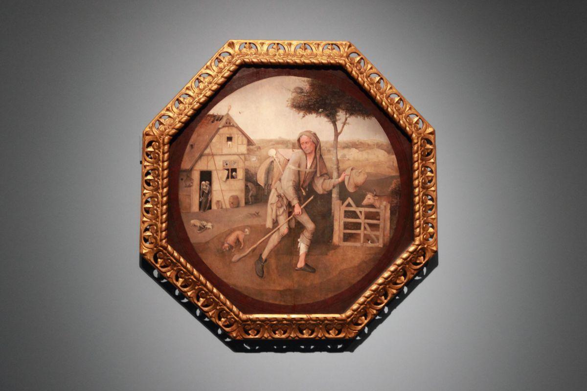 ヒエロニムス・ボス《放浪者(行商人)》1500年頃、油彩、板