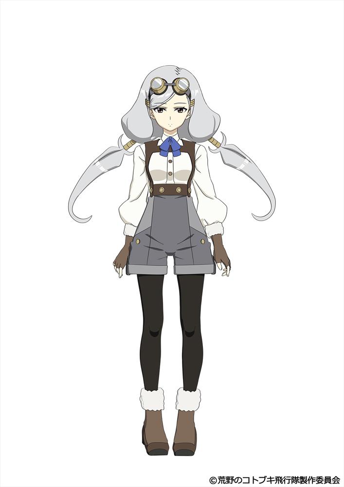 ケイト cv.仲谷明香 理詰めな性格で計算も早い、寡黙な女の子。機械のような正確な射撃とトリッキーな操縦で敵を撃墜していく。