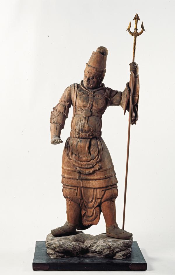 重要文化財 持国天立像(四天王像のうち) 平安時代・9世紀島根・萬福寺(大寺薬師)蔵