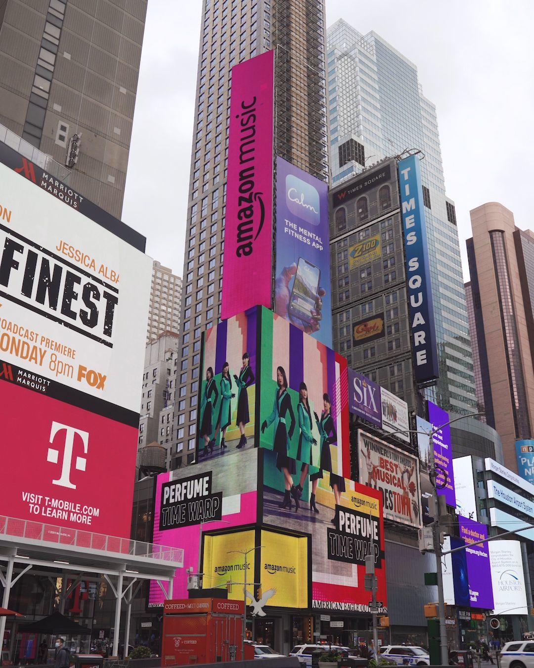 ニューヨーク・タイムズスクエア Amazon Music街頭広告