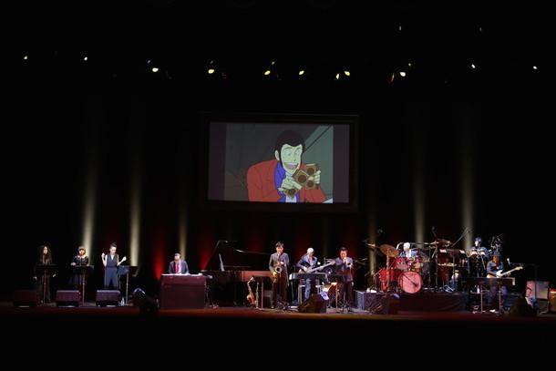 「ルパン三世コンサート~LUPIN! LUPIN!! LUPIN!!! 2015~」東京・中野サンプラザホール公演の様子。 (c)モンキー・パンチ / TMS・NTV 原作:モンキー・パンチ (c)TMS(撮影:名和真紀子)