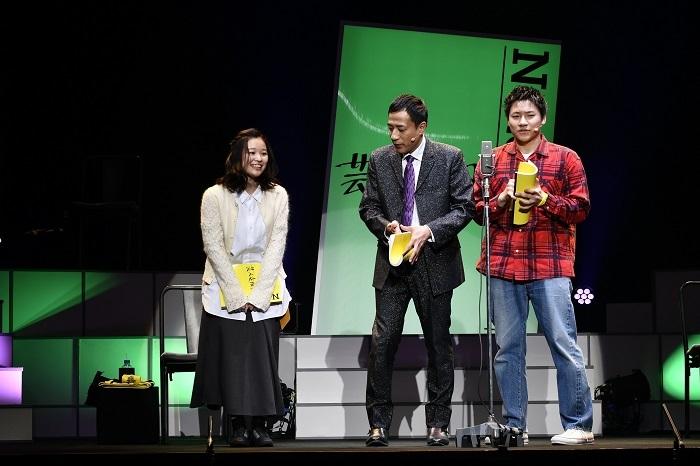 (左から)森田想 ナイツ・塙宣之 小森隼