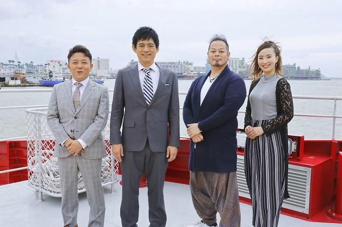 (左から)斉藤優、博多華丸、和太鼓演奏_池脇晋輔、池脇佳那
