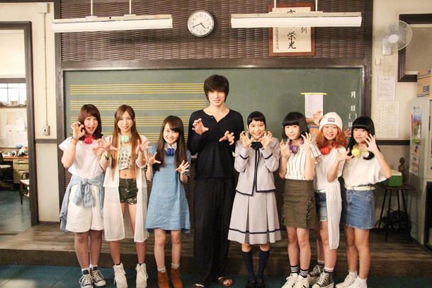 「表参道高校合唱部!」撮影現場での様子。