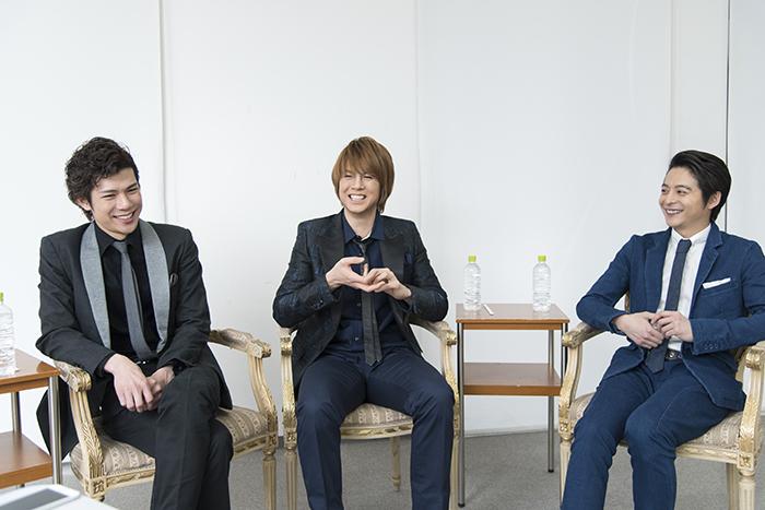 (左から)柿澤勇人・浦井健治・小池徹平
