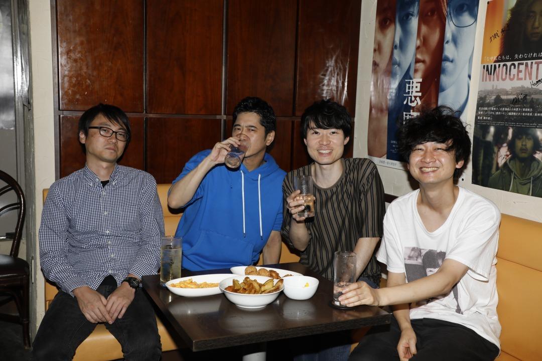 写真左から:澤藤弘一、萩原聖人、梅津拓也、柴田隆浩