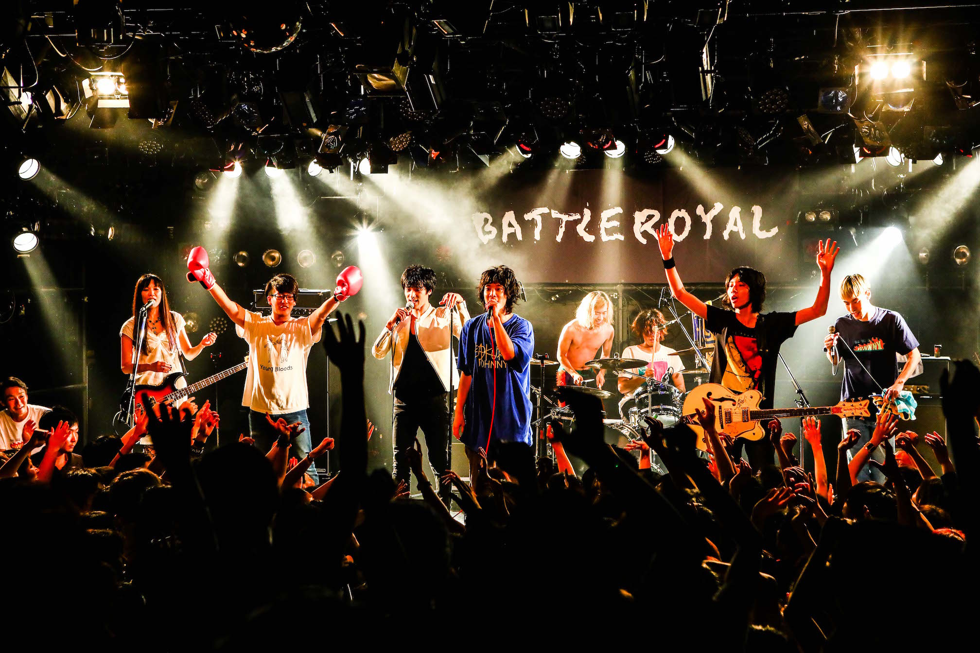 『BATTLE ROYAL』a flood of circle VS 爆弾ジョニー Photo by 渡邉一生(SLOT PHOTOGRAPHIC)