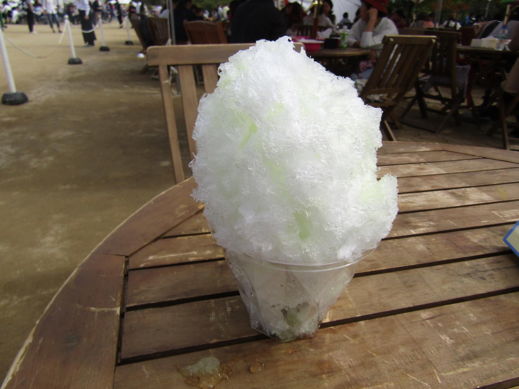 氷屋bebe「富士山の天然氷かき氷 静岡マスクメロン」<静岡>