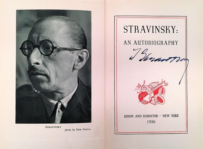 ストラヴィンスキー自伝(サイン入り)アメリカ 1936年