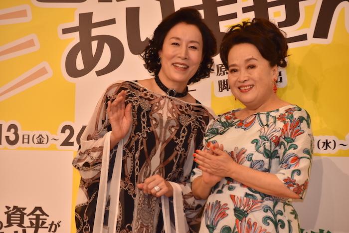 高畑淳子と渡辺えり(左から)