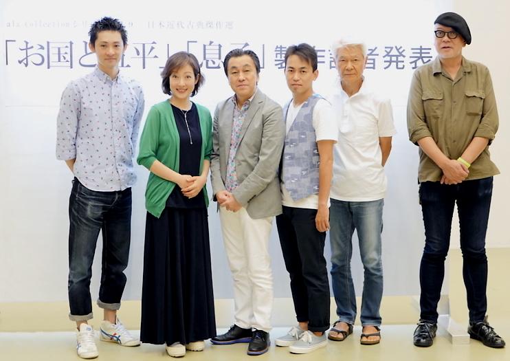 (左から)石母田史朗、七瀬なつみ、佐藤B作、佐藤銀平、山野史人、マキノノゾミ