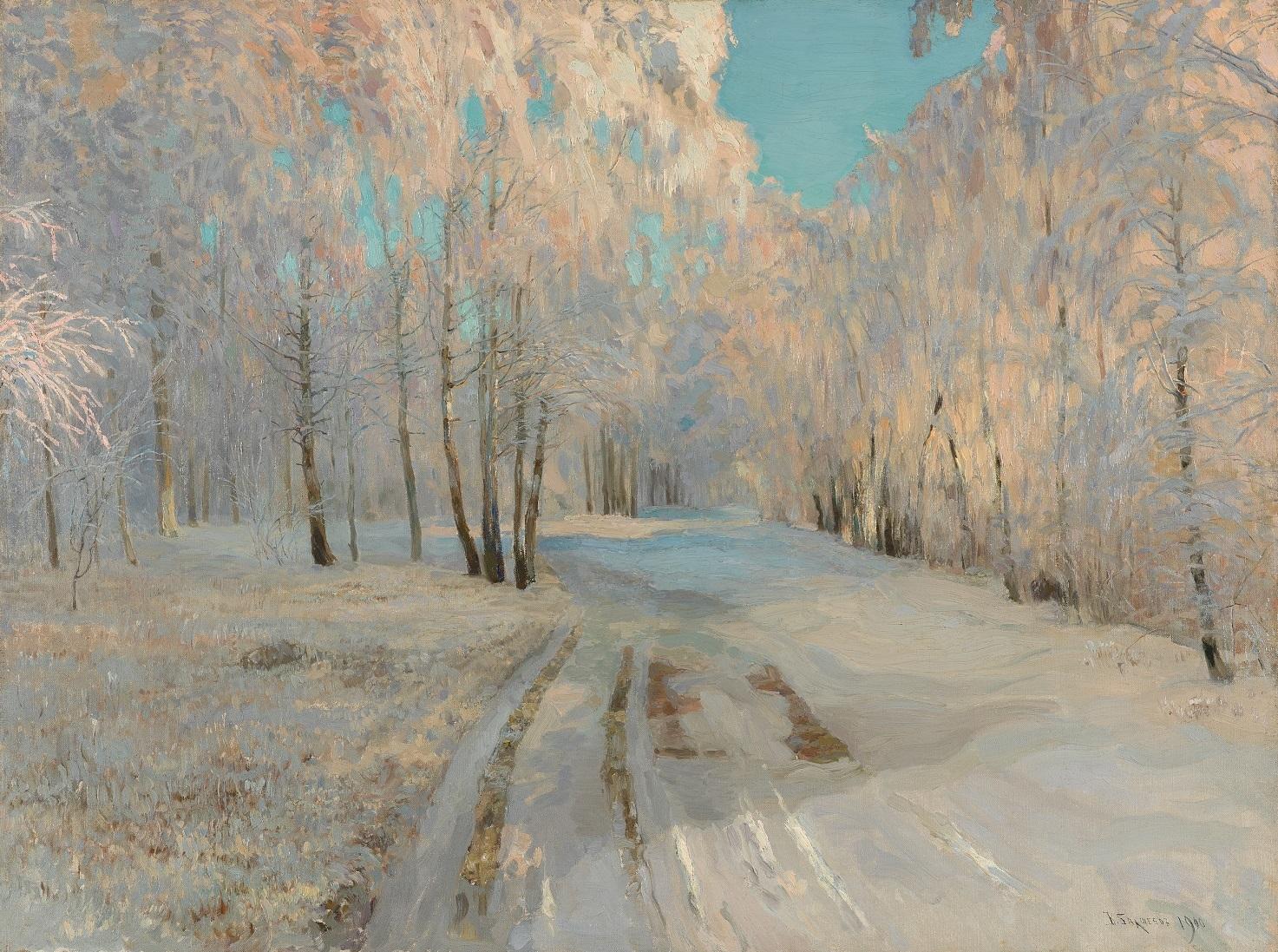 ワシーリー・バクシェーエフ 《樹氷》 1900 年 油彩・キャンヴァス (C) The State Tretyakov Gallery