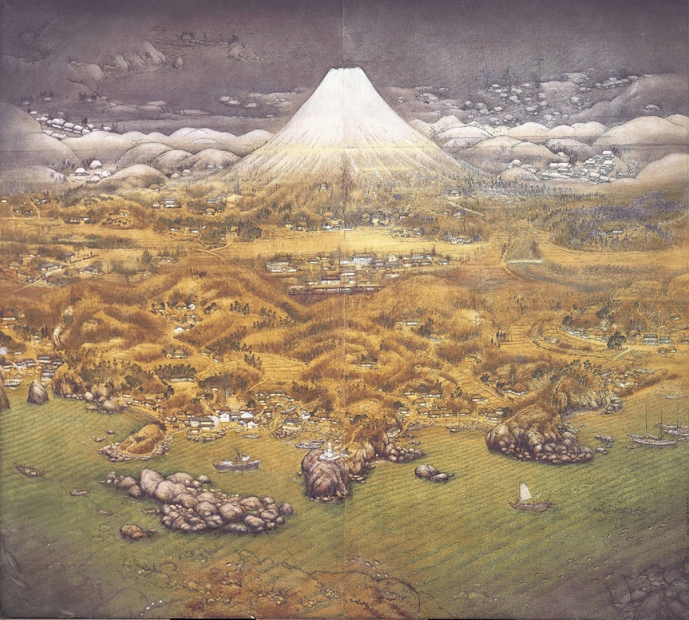 《山海図絵(伊豆の追憶)》大正14(1925)年 木下美術館蔵