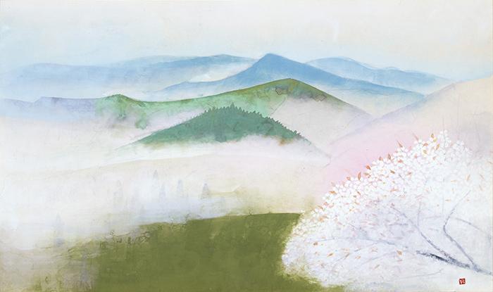 奥村土牛《吉野》 1977(昭和52)年 紙本・彩色 山種美術館