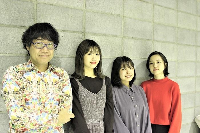 左から倉本美津留、碓井玲菜、寺本莉緒、秋谷百音