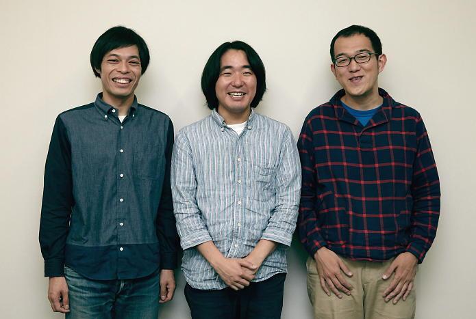 (左から)石田剛太・本多力・上田誠