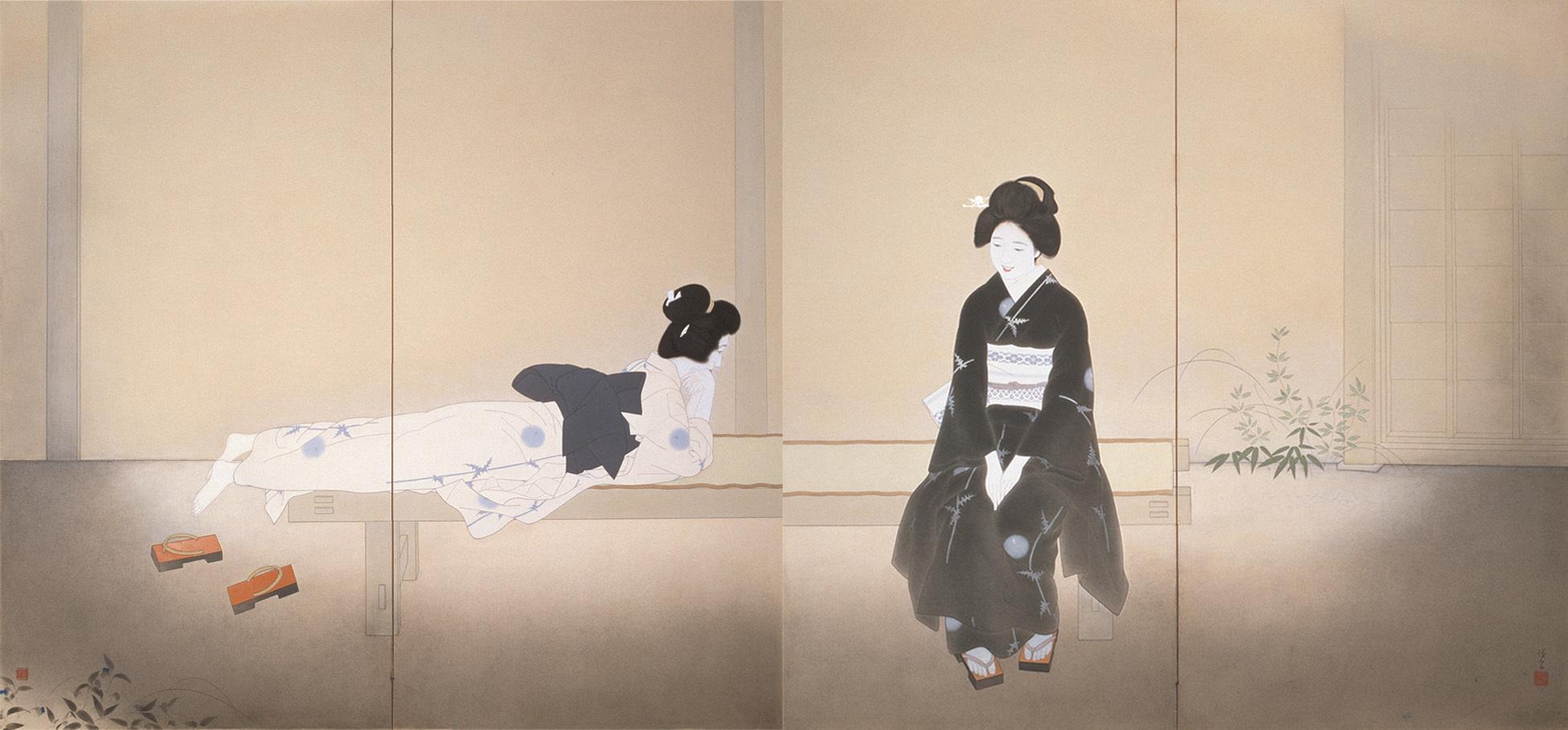 北野恒富《いとさんこいさん》昭和11年(1936) 京都市美術館