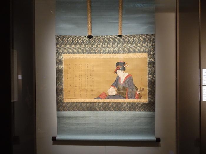 喜多川歌麿《三味線を弾く美人図》文化元-3年(1804-06)頃