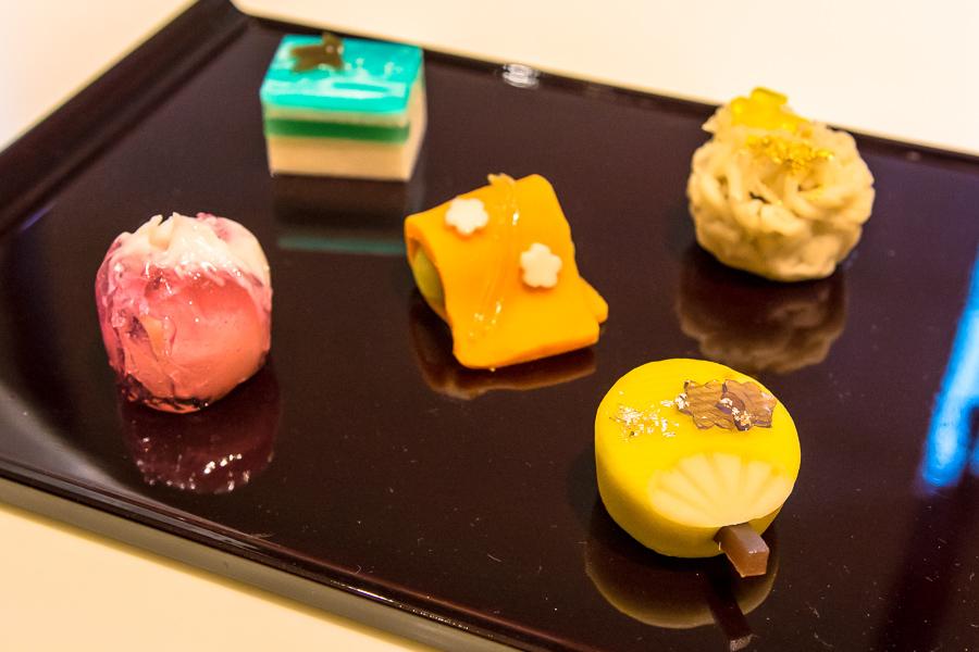 ミュージアムカフェ「Cafe 椿」ではオリジナルの和菓子を提供。テイクアウト可(1個510円)