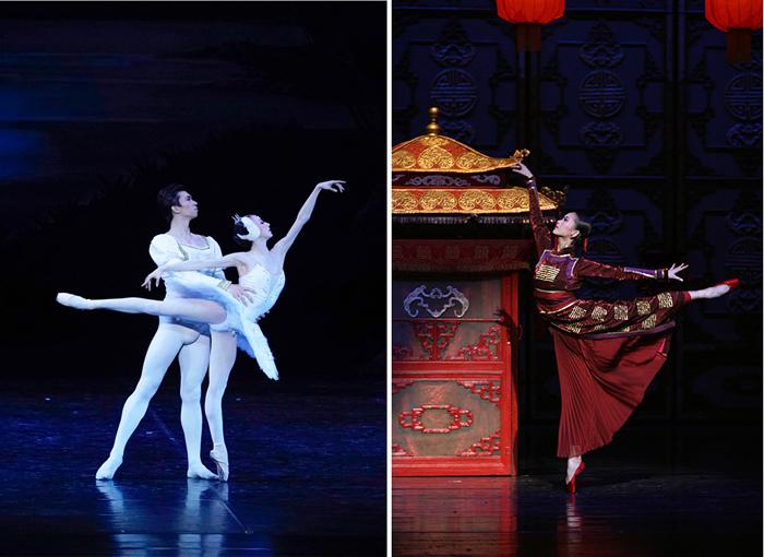 中国国立バレエ団(左)『白鳥の湖』(右)『赤いランタン ~紅夢~ 』