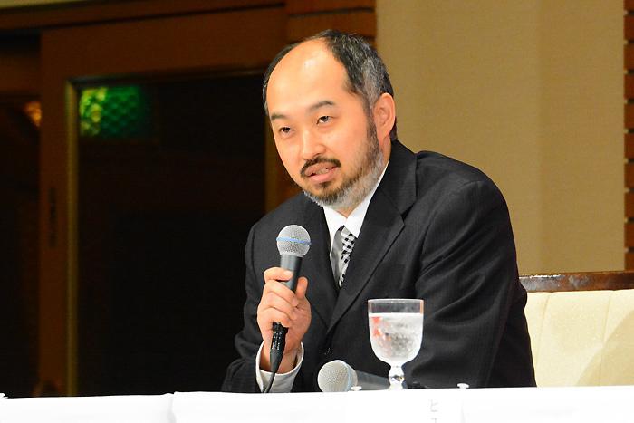 演出の森新太郎~製作発表会見にて(写真撮影:塚田史香)