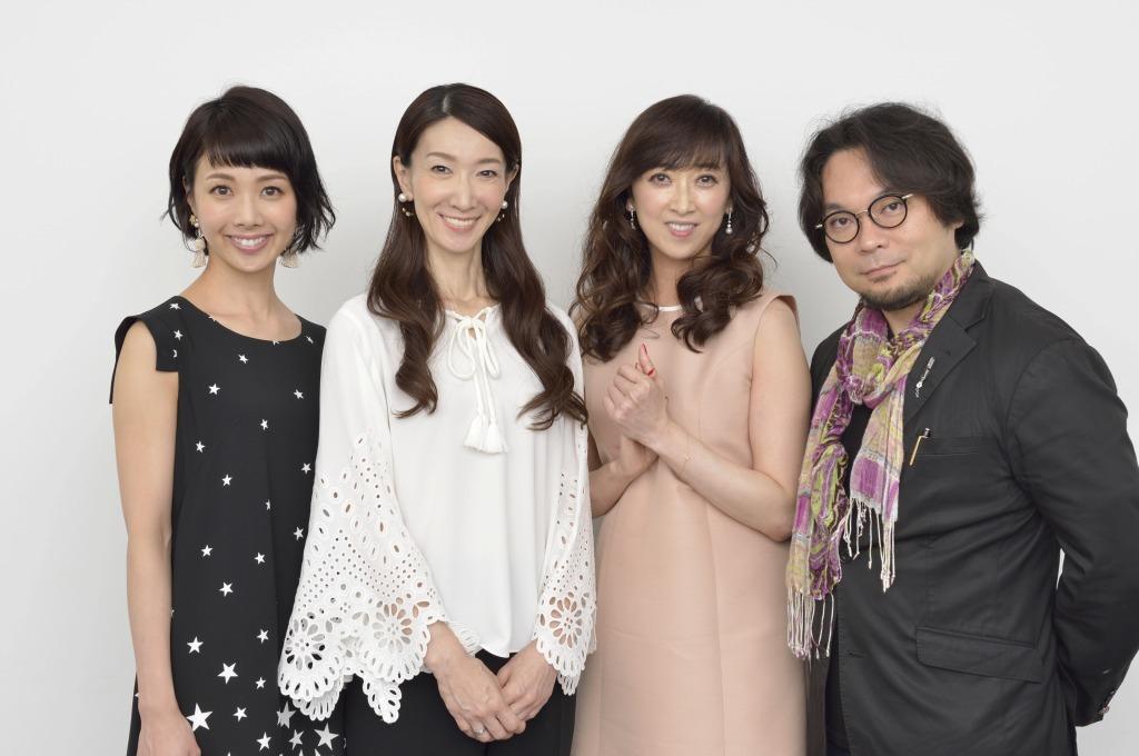 (左から)妃海風、春野寿美礼、紫吹淳、藤沢文翁  撮影=荒川 潤
