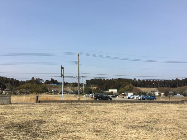 下総松崎駅周辺の田園地帯