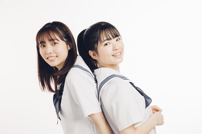 (左から)秋田汐梨、筒井あやめ