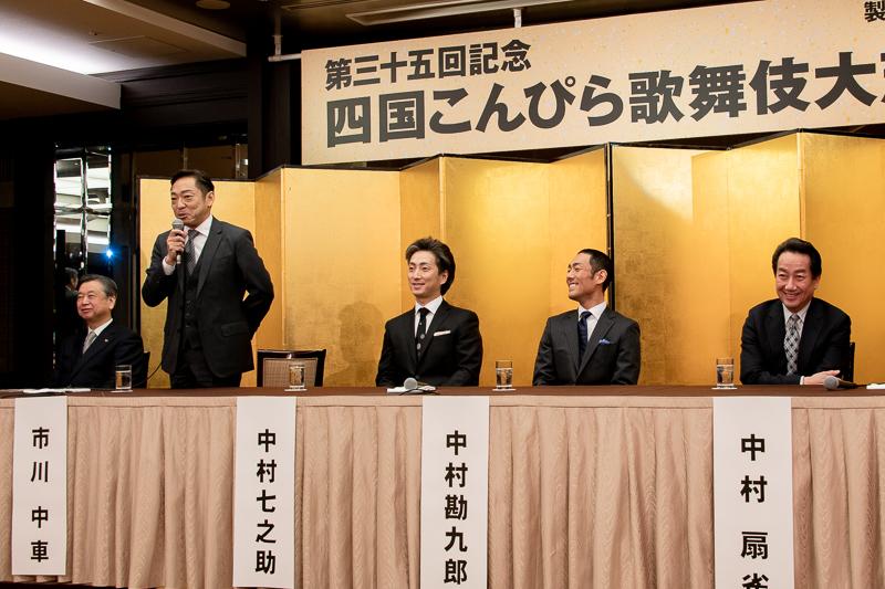 (左から)安孫子正氏、市川中車、中村七之助、中村勘九郎、中村扇雀