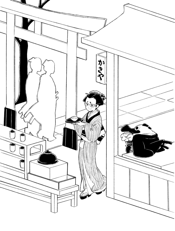 ヨリコ・ギャラリー2a 《東京の日常》(C) 2018 OPMA All Rights Reserved. Illustration by Yusuke Yoshigaki