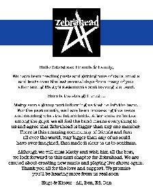 ゼブラへッドからマッティ・ルイス(Vo/G)が脱退 2022年には日本ツアーを開催予定