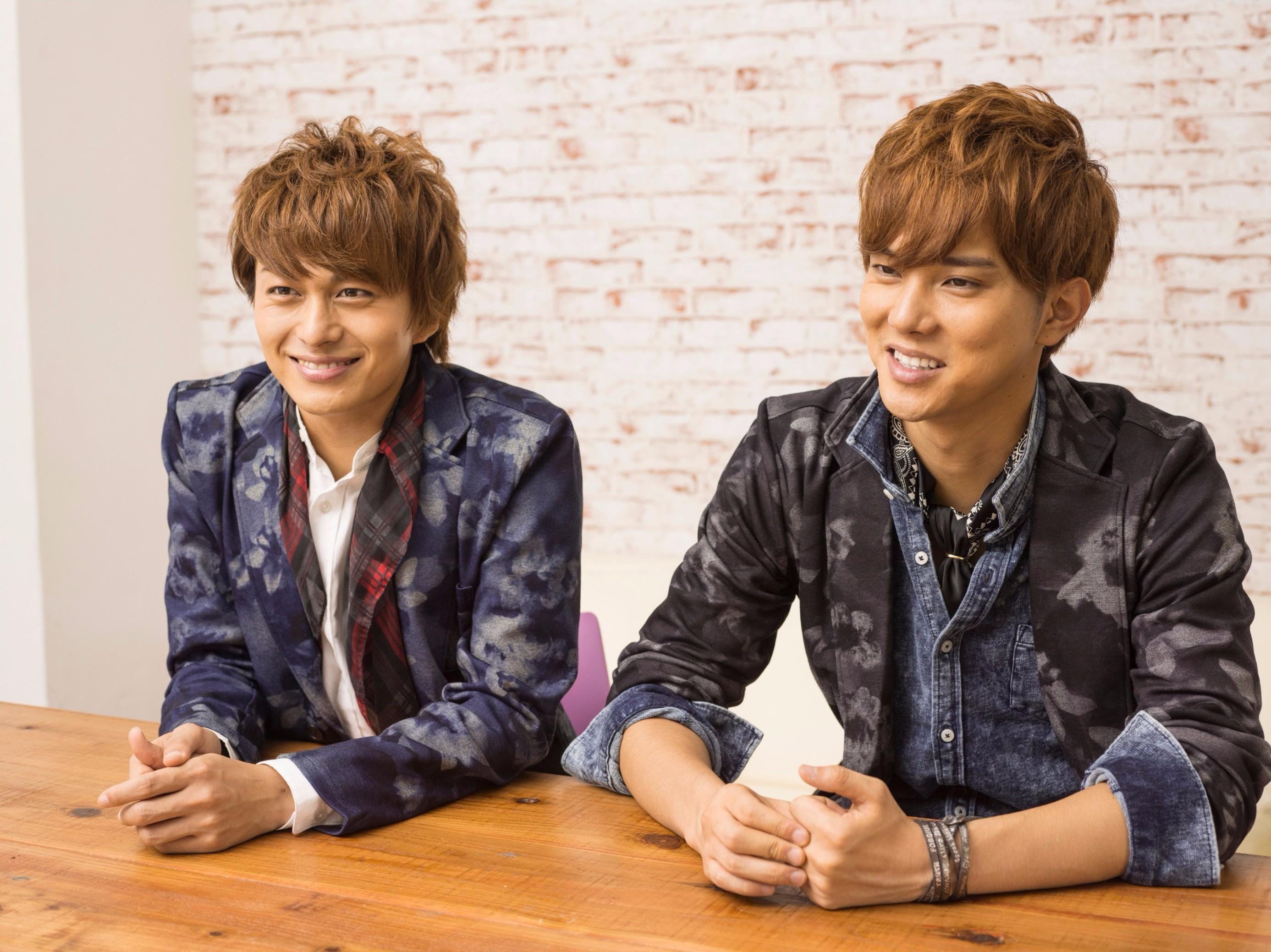 BOYS AND MEN 小林豊(左)、水野勝(右)