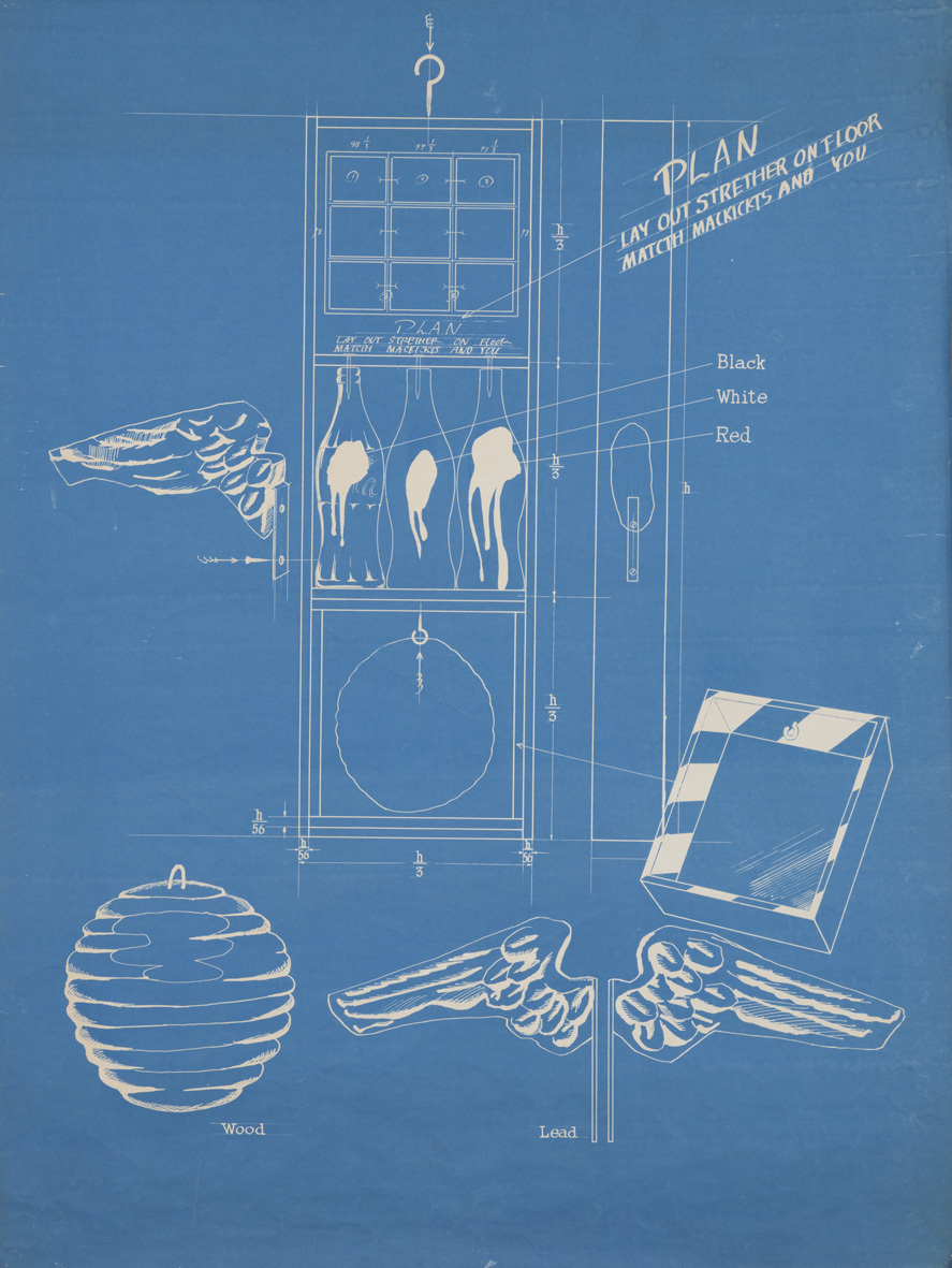 篠原有司男《Coca-Cola Plan》1966年、個人蔵