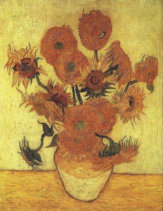 『ひまわり』 フィンセント・ファン・ゴッホ作  Sompo Japan Museum of Art 出典=ウィキメディア・コモンズ (Wikimedia Commons)