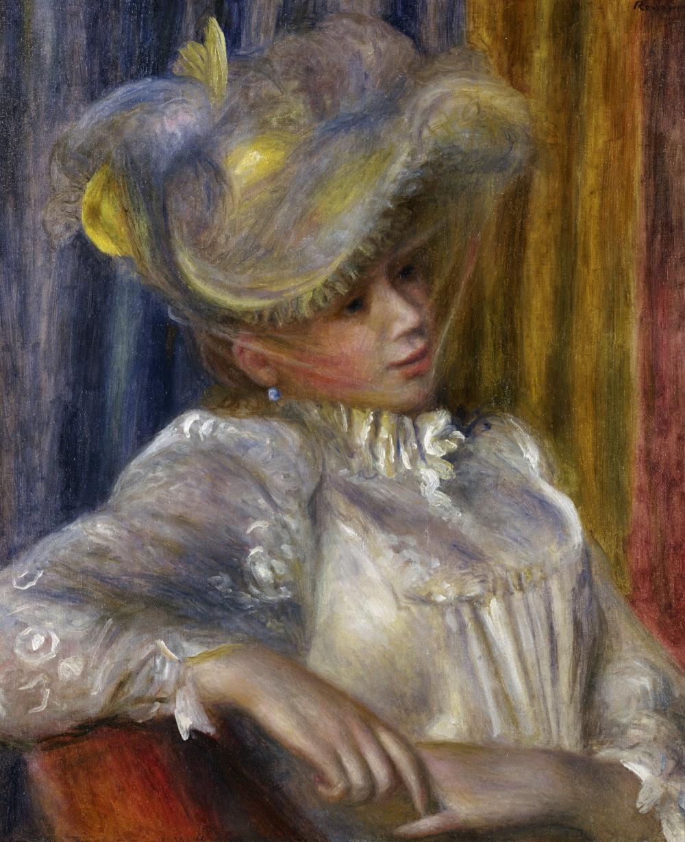 ピエール=オーギュスト・ルノワール《帽子の女》 1891年 油彩、カンヴァス 国立西洋美術館(松方コレクション)