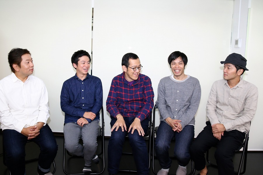 諏訪雅、永野宗典、上田誠、石田剛太、土佐和成