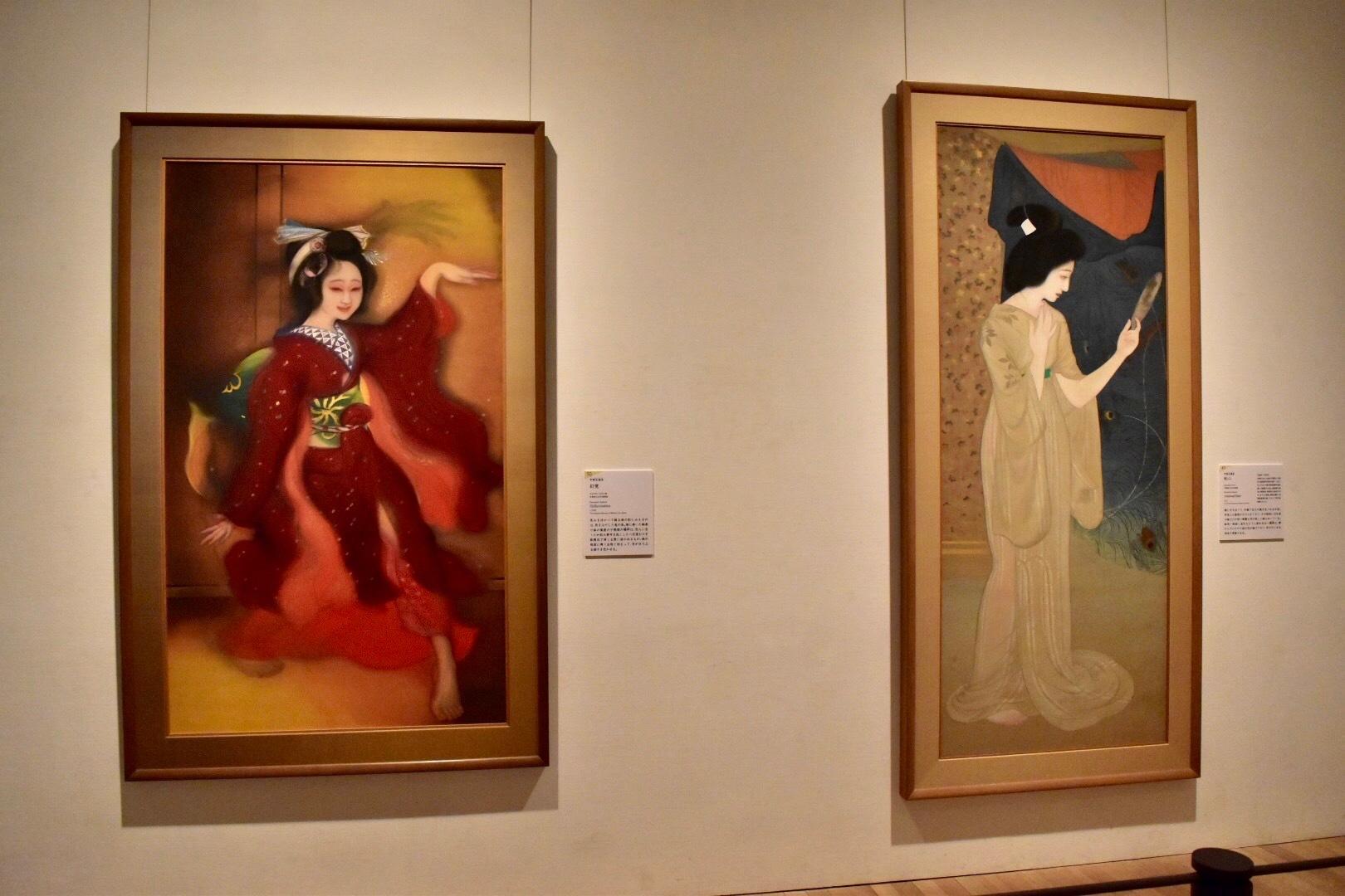 左:甲斐庄楠音 《幻覚》 大正9年 京都国立近代美術館蔵 右:甲斐庄楠音 《秋心》 大正6年 京都国立近代美術館蔵
