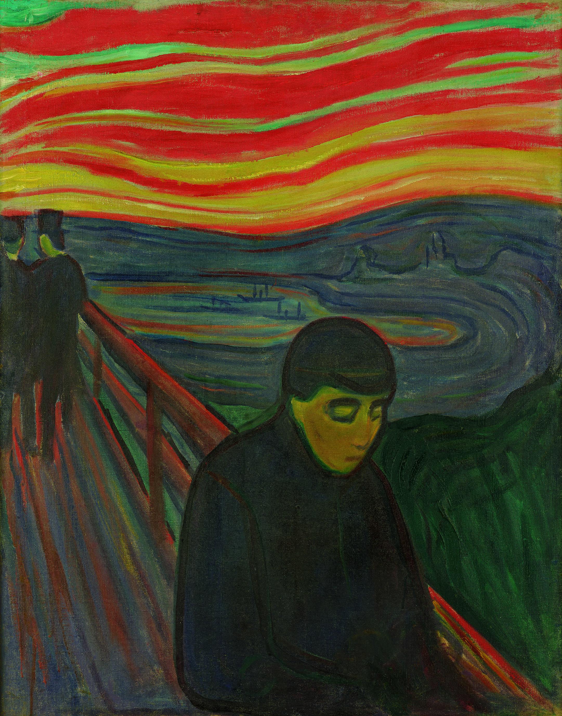 エドヴァルド・ムンク《絶望》1893-94年 油彩、カンヴァス 92×72.5cm