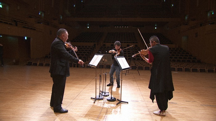 N響・篠崎史紀、都響・矢部達哉、神奈川フィル・石田泰尚 コンサートマスター3人だけの演奏で、エルガー「ニムロッド」