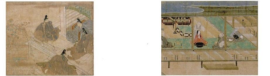 徳川美術館:左・重要文化財「葉月物語絵巻」 右・重要文化財「掃墨物語絵巻」