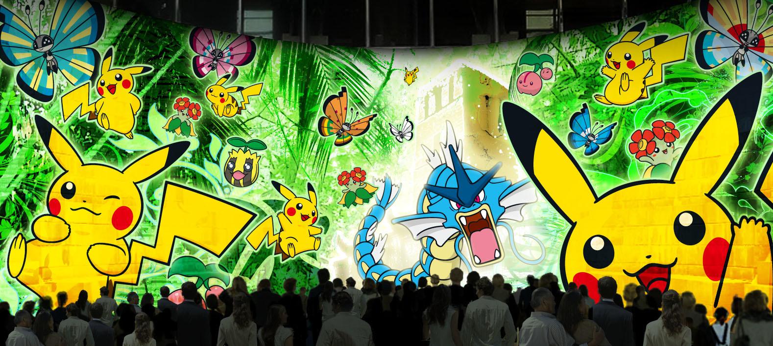 ドックヤード・プロジェクションマッピング『「ピカチュウと踊る探検家」~ジャングル遺跡の謎~』イメージ ©2015 Pokémon. ©1995-2015 Nintendo/Creatures Inc. /GAME FREAK inc. ポケットモンスター・ポケモン・Pokémonは任天堂・クリーチャーズ・ゲームフリークの登録商標です。