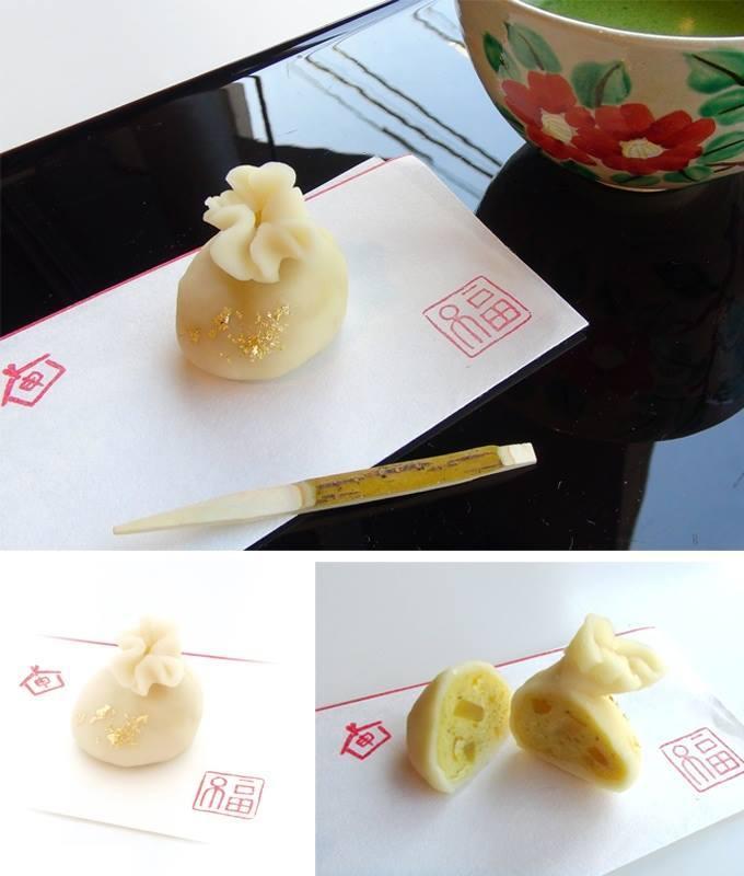 伊藤若冲《布袋図》をイメージしたオリジナル和菓子「招福」