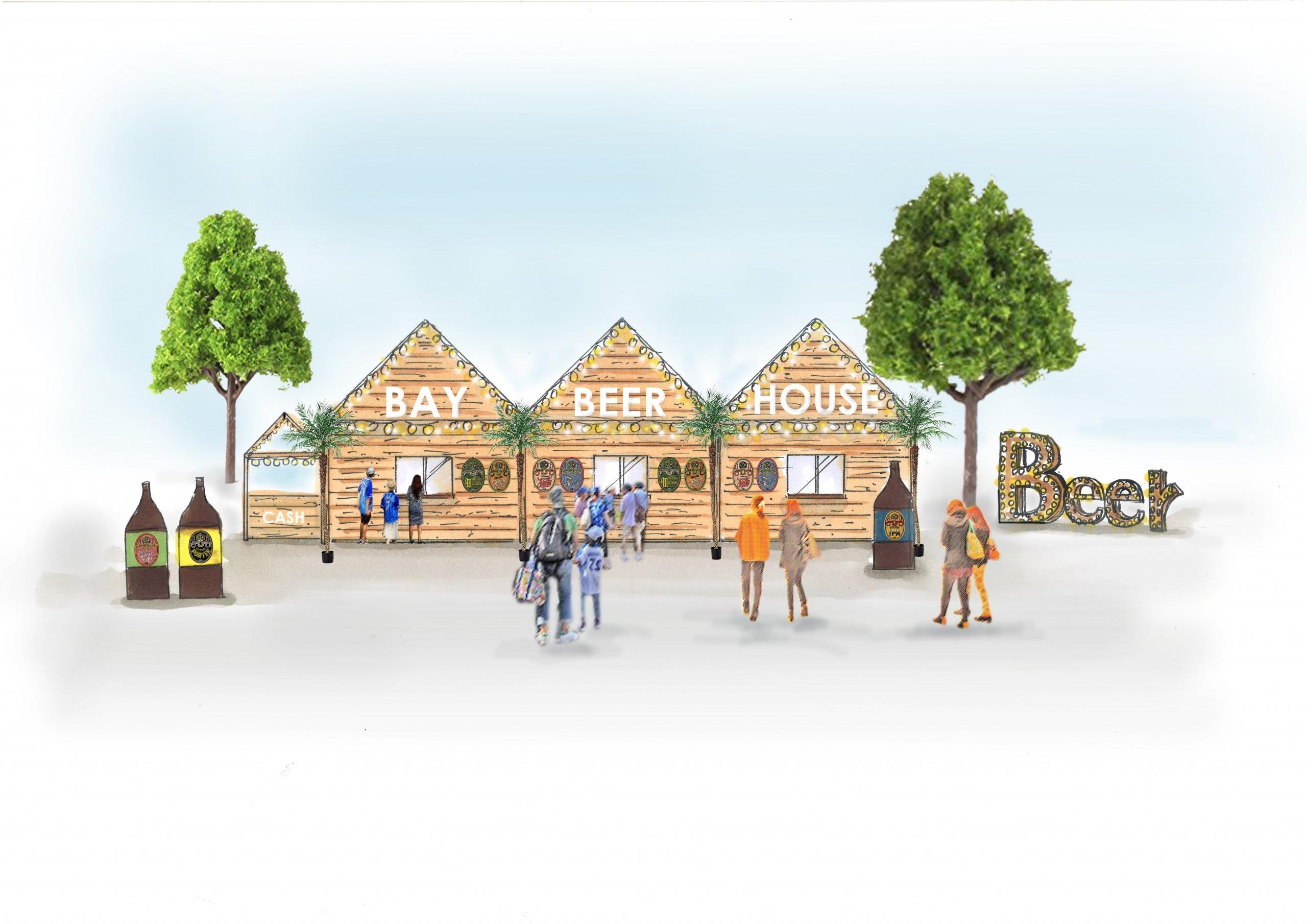 ハマスタBAYビアガーデン内に設置する特別店舗「BAY BEER HOUSE」(※イメージ画像) (c)YDB
