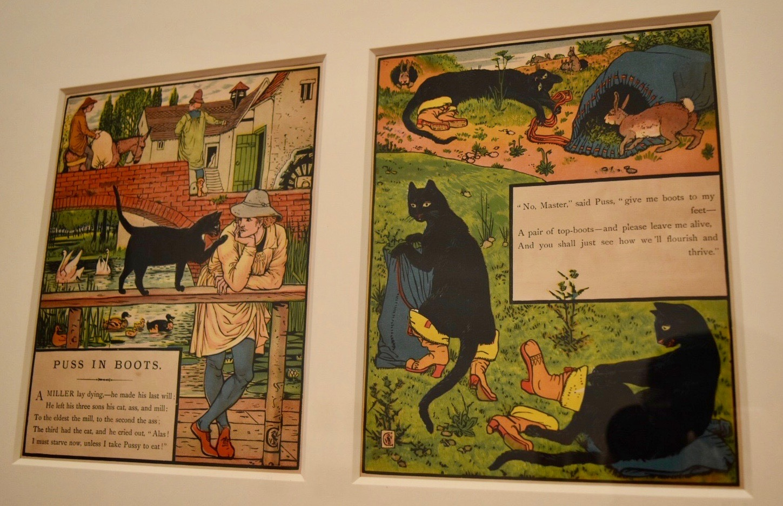 ウォルター・クレイン 《長靴をはいた猫》1874年 個人蔵