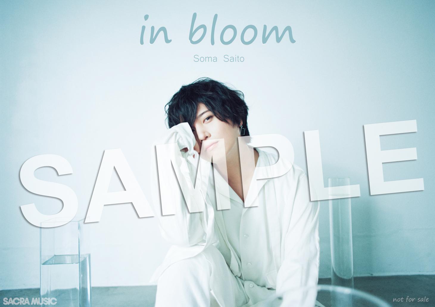 斉藤壮馬 in-bloom<抽選特典>b3ポスターデザイン