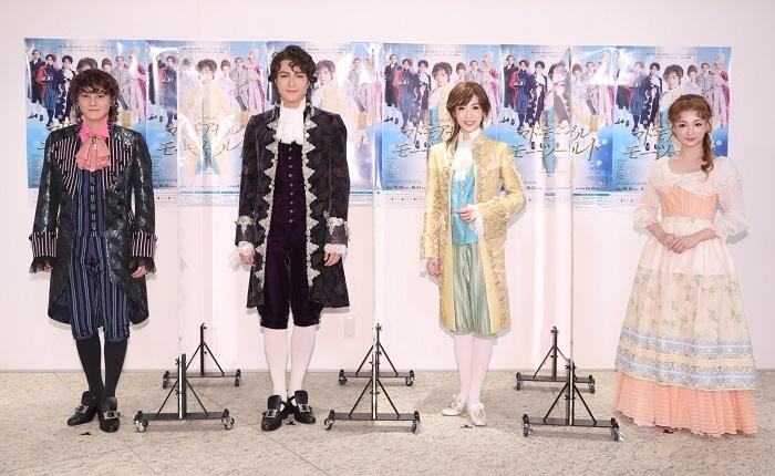 (左から)古屋敬多、平方元基、明日海りお、華優希